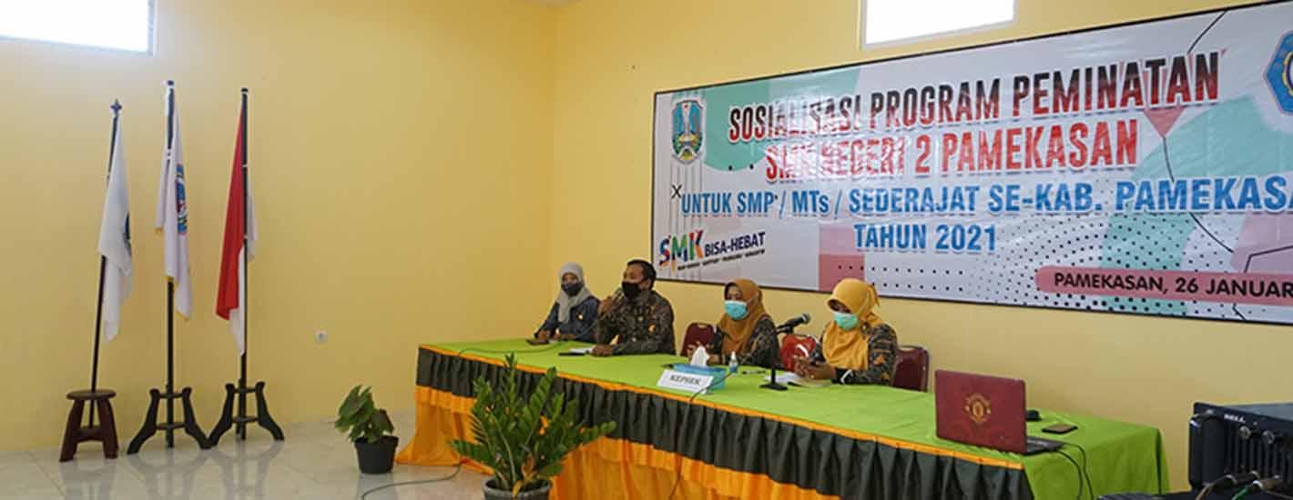 Sosialisasi Program Peminatan SMK Negeri 2 Pamekasan Untuk SMP/MTs Kab. Pamekasan